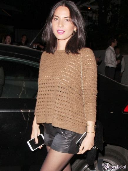 Braless Olivia Munn's Nipples In A See Through Knit