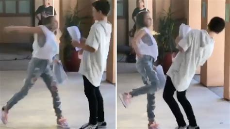 Annie LeBlanc PUNCHES Hayden Summerall On Set Of Their New