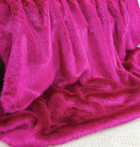 Hot Pink Mink Faux Fur Throw Blanket | The Stylish Dog Company