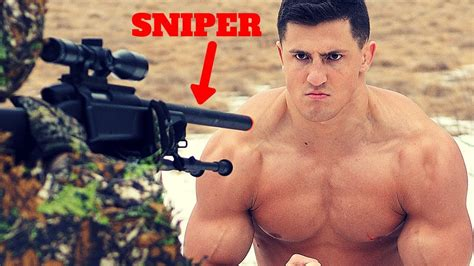 Bodybuilder VS Airsoft SNIPER *HIGH FPS* | Extremely