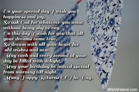 On This Special Day I Wish You