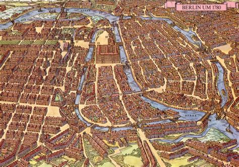 The city of Berlin, 500 years apart: the evolution from a