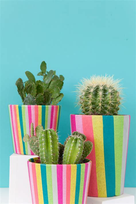 DIY TISSUE PAPER COVERED POTS - Tell Love and Party