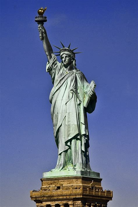 Statue Of Liberty A Symbol Of Freedom - Gets Ready