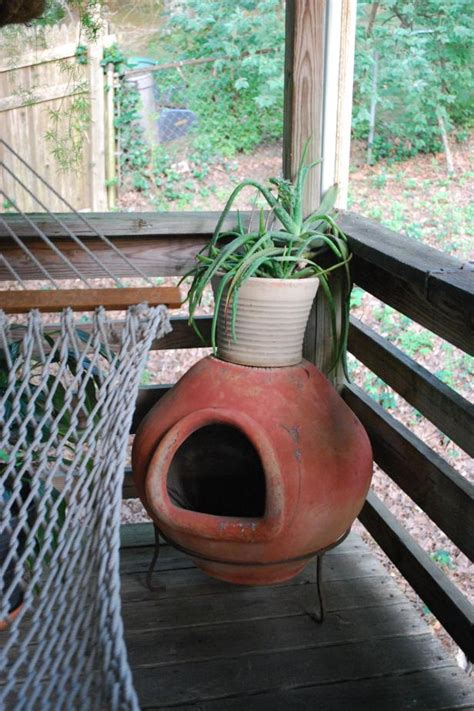 Outdoor Clay Chiminea Fireplace Options | HGTV