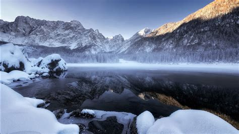 Winter Snow Mountains 5K Wallpapers | HD Wallpapers | ID