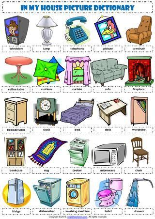 English Vocabulary - in my house furniture - | Imparare